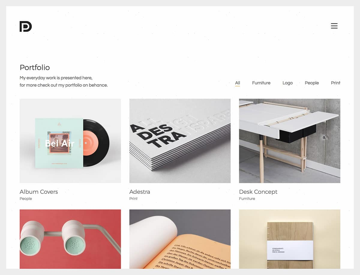 Kalium-5 - 31+ Awesome WordPress Themes For Artists [year]