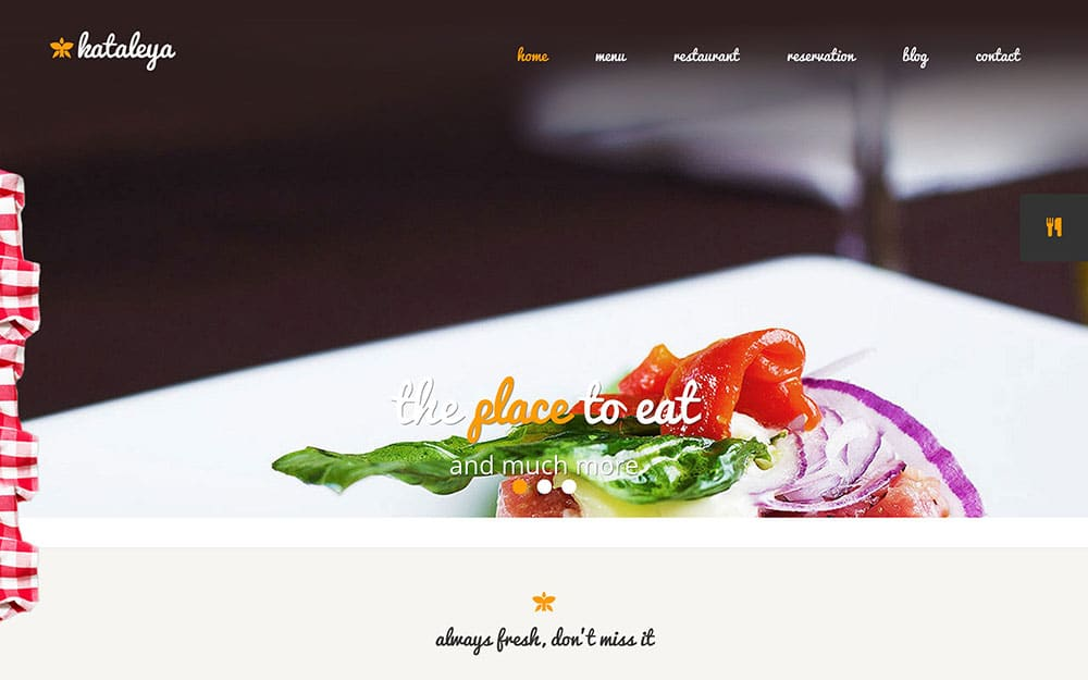 Kataleya-1 - 50+ Nice WordPress Themes For Restaurant [year]