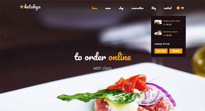 Kataleya - 31+ Nice Food & Drink E-commerce WordPress Themes [year]