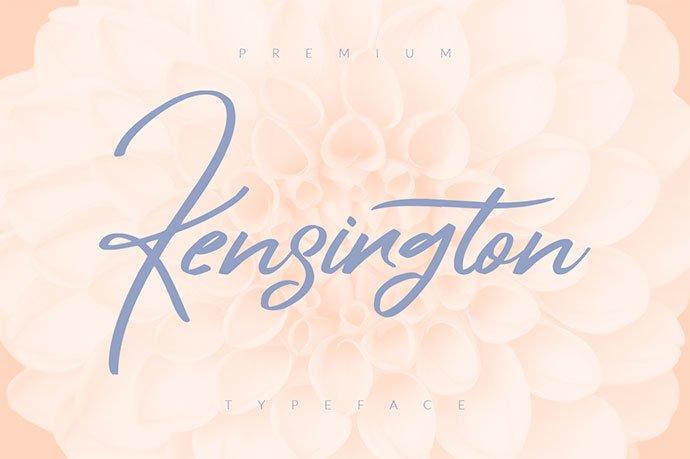 Kensington - 51+ Free Fonts For Calligraphy & Hand Lettering [year]
