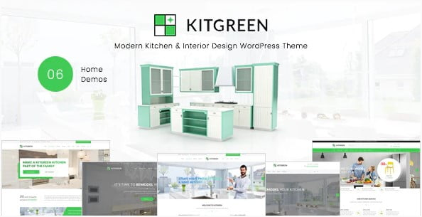 KitGreen - 30+ Top Quality WordPress Themes For Interior Design [year]