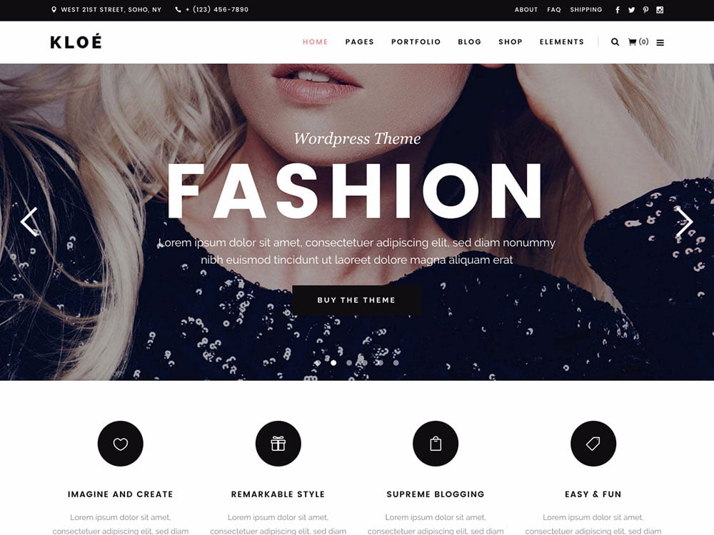 Kloe - 36+ Nice WordPress Themes For Fashion Blog [year]