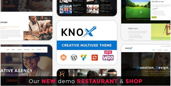 Knox - 36+ Nice WordPress Golf Themes For Golf Clubs Websites [year]