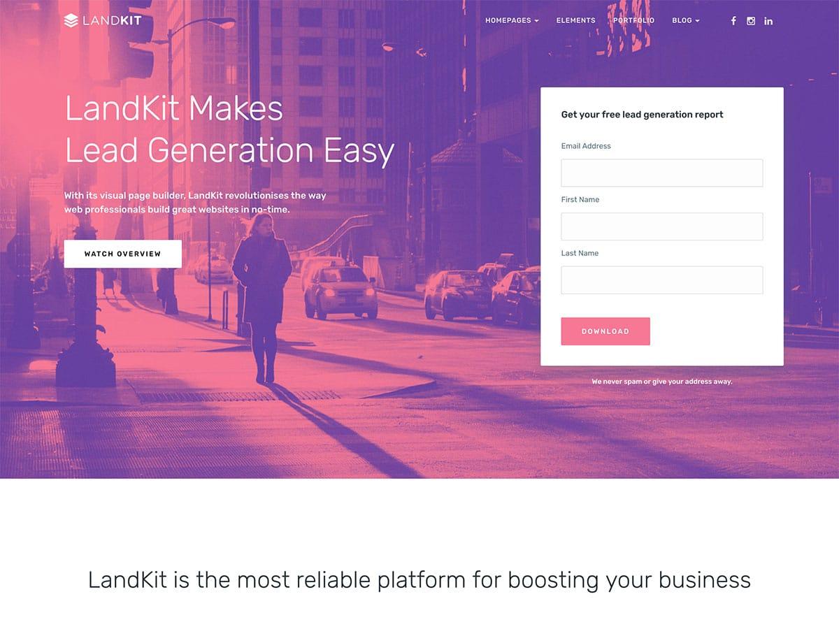 LandKit - 36+ Awesome WordPress Marketing Themes [year]