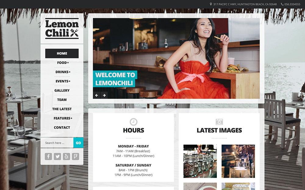 LemonChili - 50+ Nice WordPress Themes For Restaurant [year]