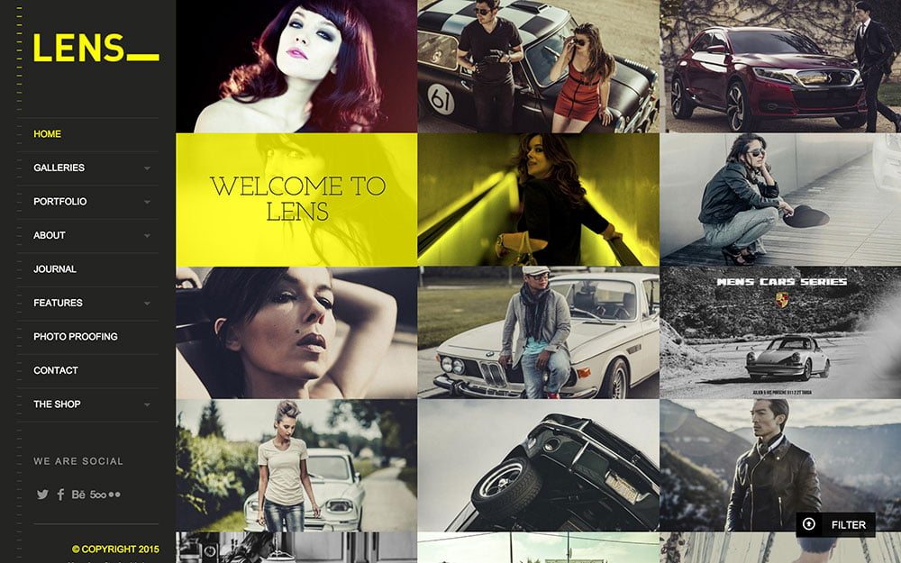 Lens - 36+ Top Quality WordPress Themes For Photography [year]