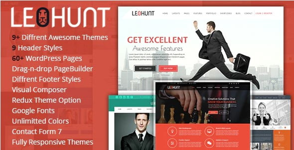 LeoHunt - 35+ Nice Hunting and Weapon For WordPress Themes [year]