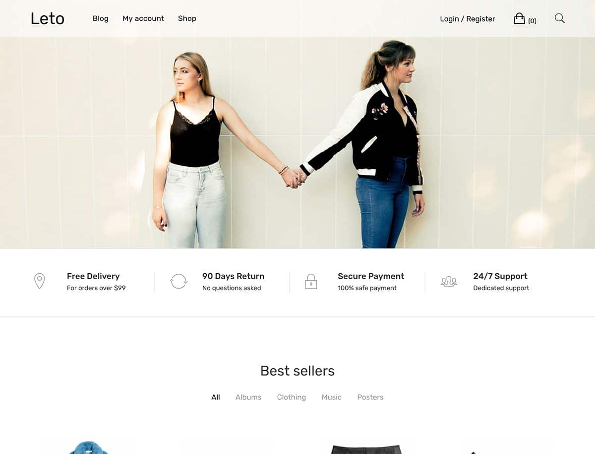 Leto - 51+ Awesome Free WordPress Themes For Ecommerce [year]