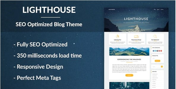 Lighthouse-Blog - 36+ Responsive WordPress SEO Friendly Themes [year]