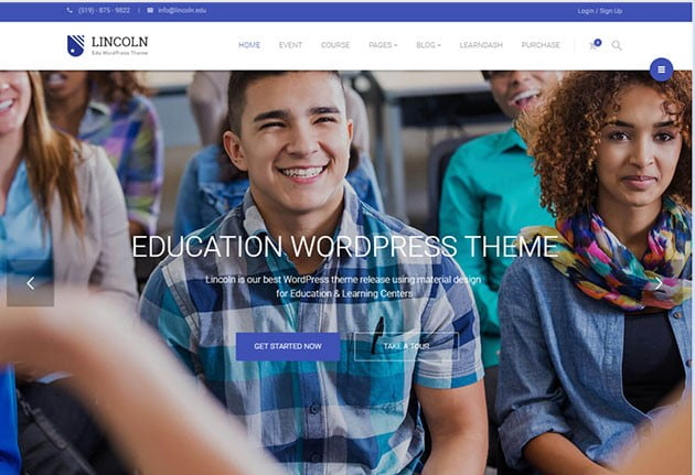 Lincoln - 36+ Awesome WordPress Themes e-Learning [year]