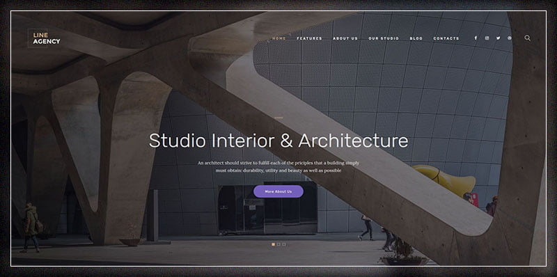 Line-Agency - 36+ Top Quality WordPress Themes For Interior Design [year]