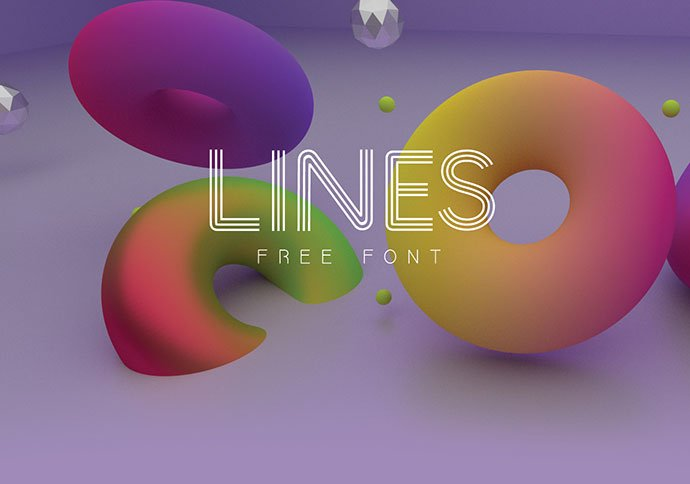 Lines-Free-Font - 31+ Amazing Free Double & Multi Line Fonts For Developer [year]