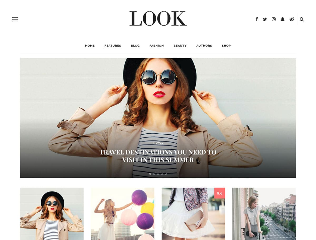 Look - 36+ Nice WordPress Themes For Fashion Blog [year]