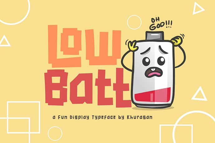 Low-Batt-Font - 31+ Amazing Game Title Fonts For Developer [year]