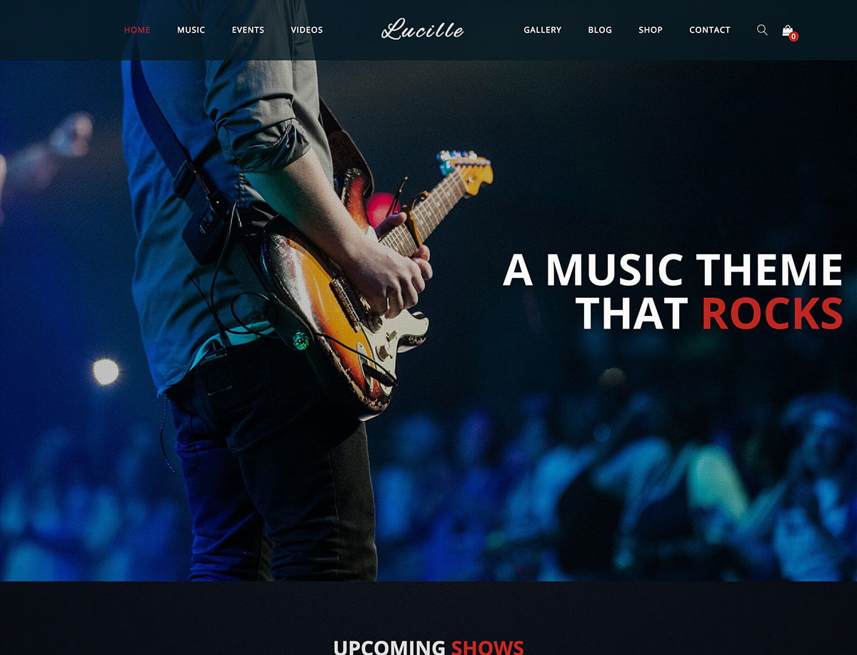 Lucille - 40+ Awesome WordPress Themes For Music [year]