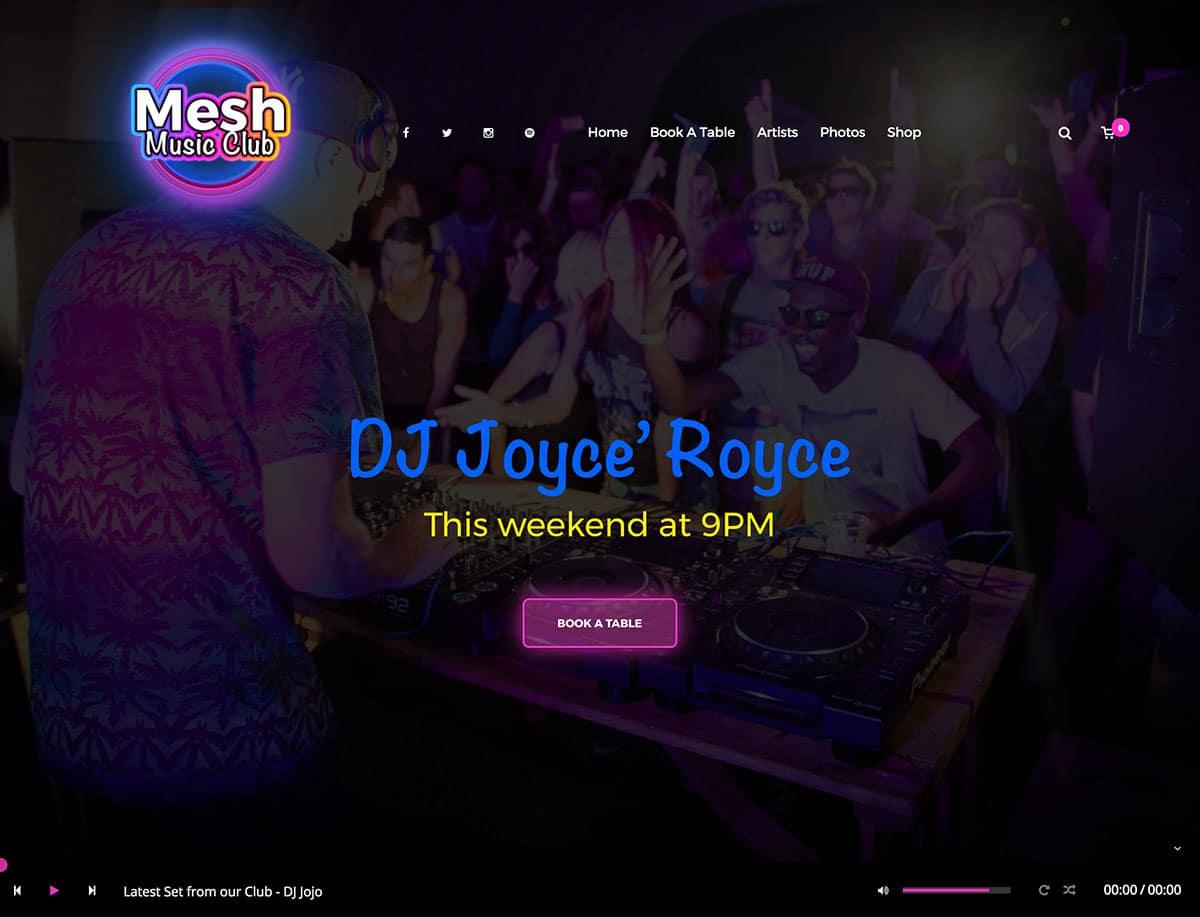 MESH - 35+ Nice WordPress Themes For Nightclub [year]