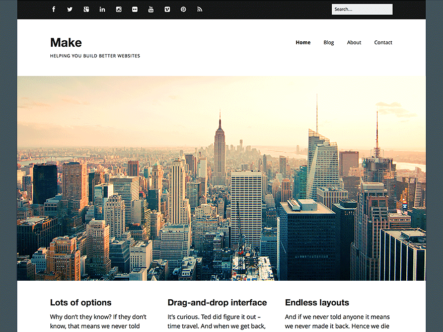 Make - 51+ Nice Free WordPress Themes For Photography [year]