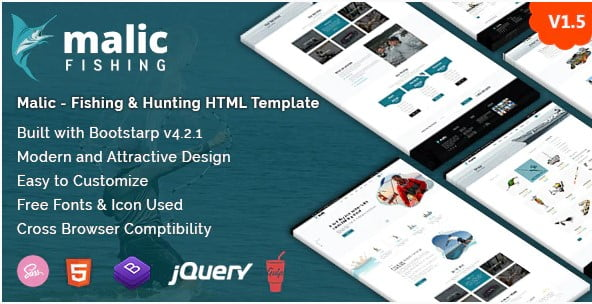 Malic - 35+ Nice Hunting and Weapon For WordPress Themes [year]