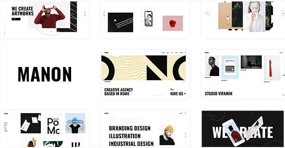 Manon - 46+ Nice Free WordPress Portfolio Themes [year]