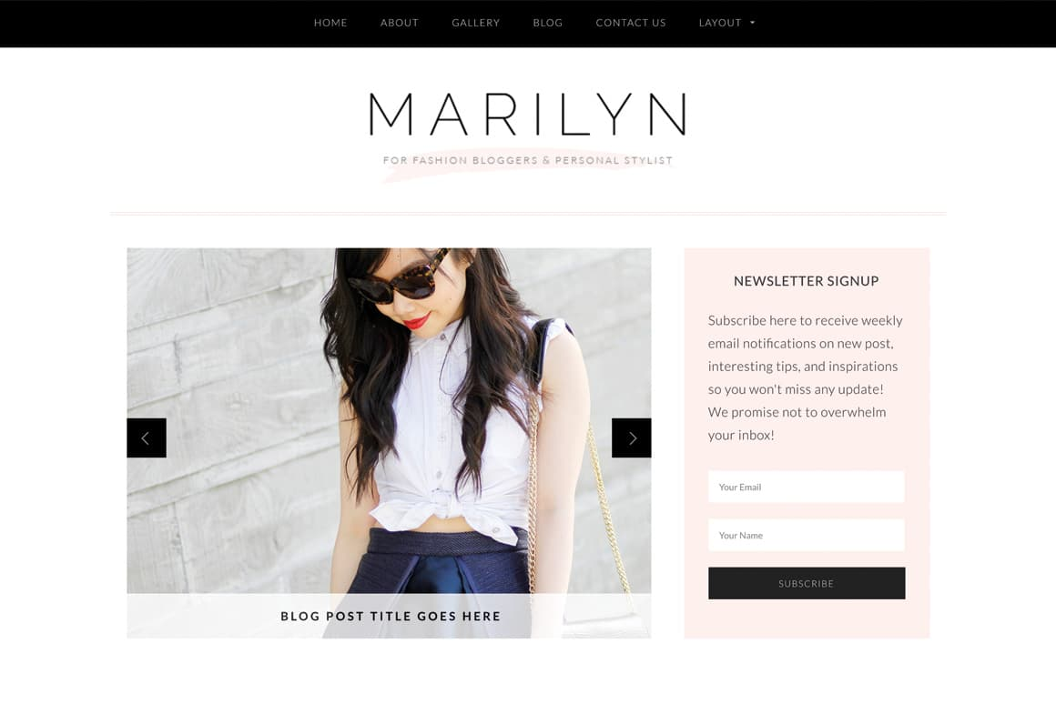 Marilyn - 36+ Nice WordPress Themes For Fashion Blog [year]