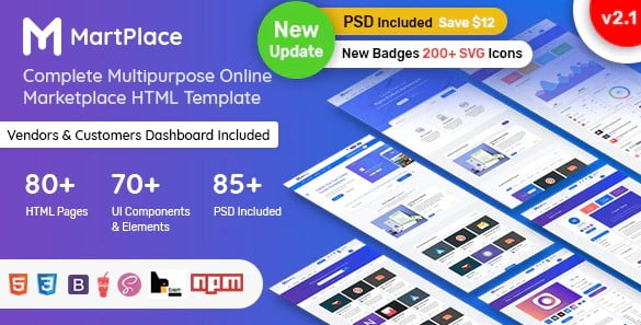 MartPlace - 36+ Awesome WordPress Digital Products Selling Themes [year]