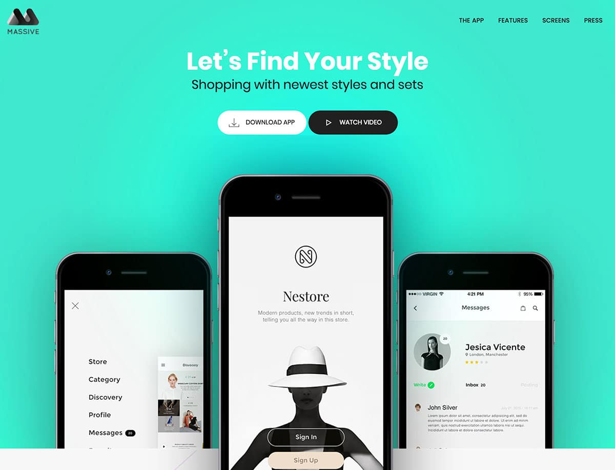 Massive-Dynamic-2 - 40+ Amazing WordPress App Showcase Themes [year]