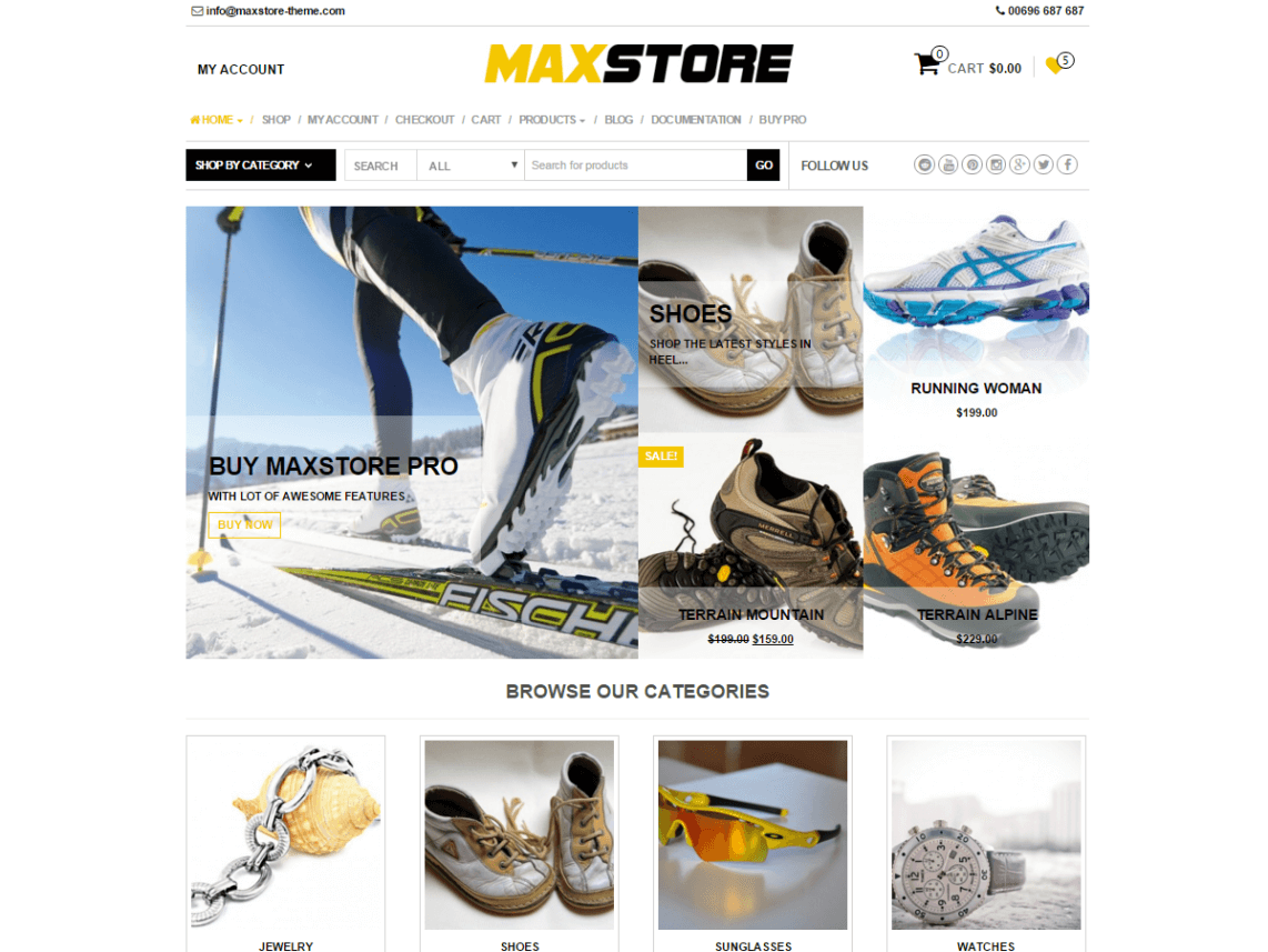 MaxStore - 51+ Awesome Free WordPress Themes For Ecommerce [year]