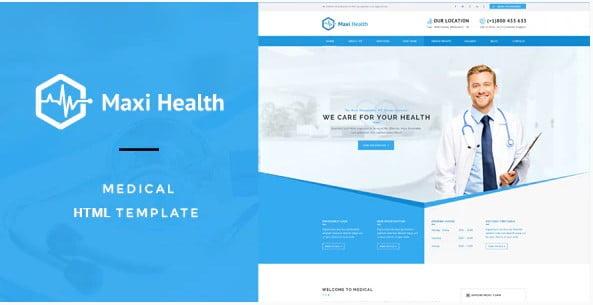 Maxi-Health - 36+ Amazing Electricians WordPress Themes [year]