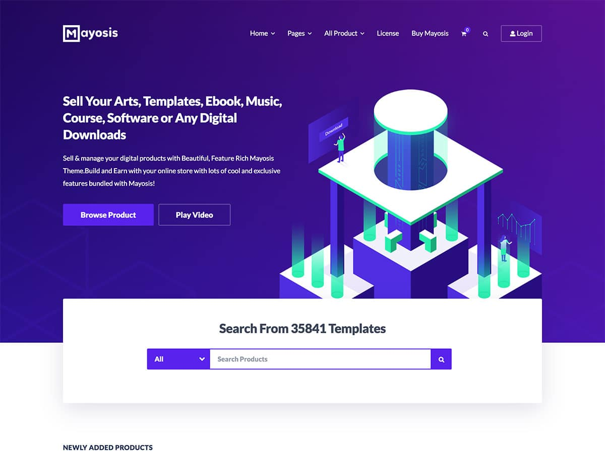 Mayosis - 36+ Awesome WordPress Digital Products Selling Themes [year]