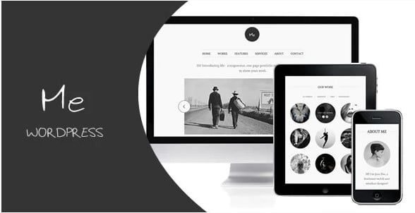 Me - 46+ Best Free WordPress One Page Themes [year]