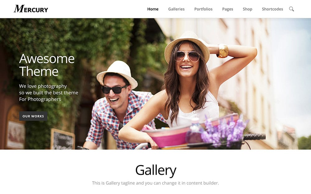 Mercury - 36+ Top Quality WordPress Themes For Photography [year]