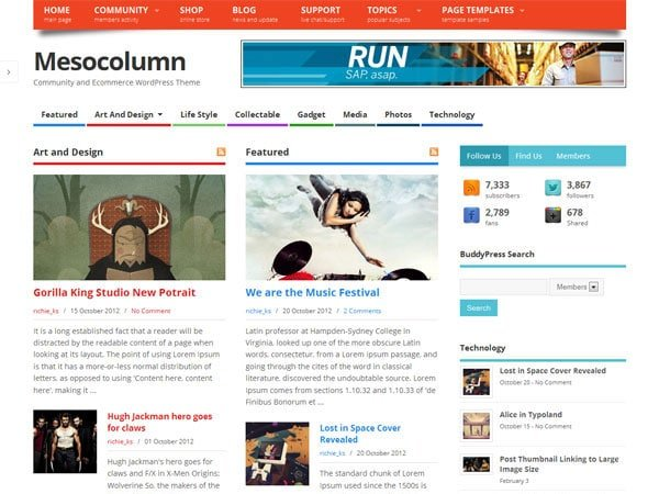 Mesocolumn - 51+ Awesome Free WordPress Themes For Ecommerce [year]