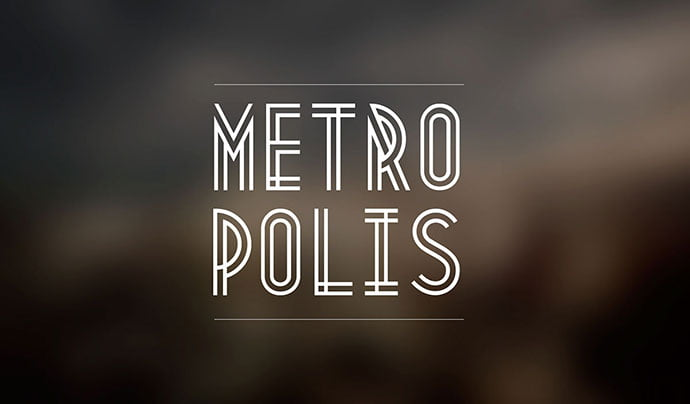 Metropolis-1920 - 31+ Amazing Free Double & Multi Line Fonts For Developer [year]