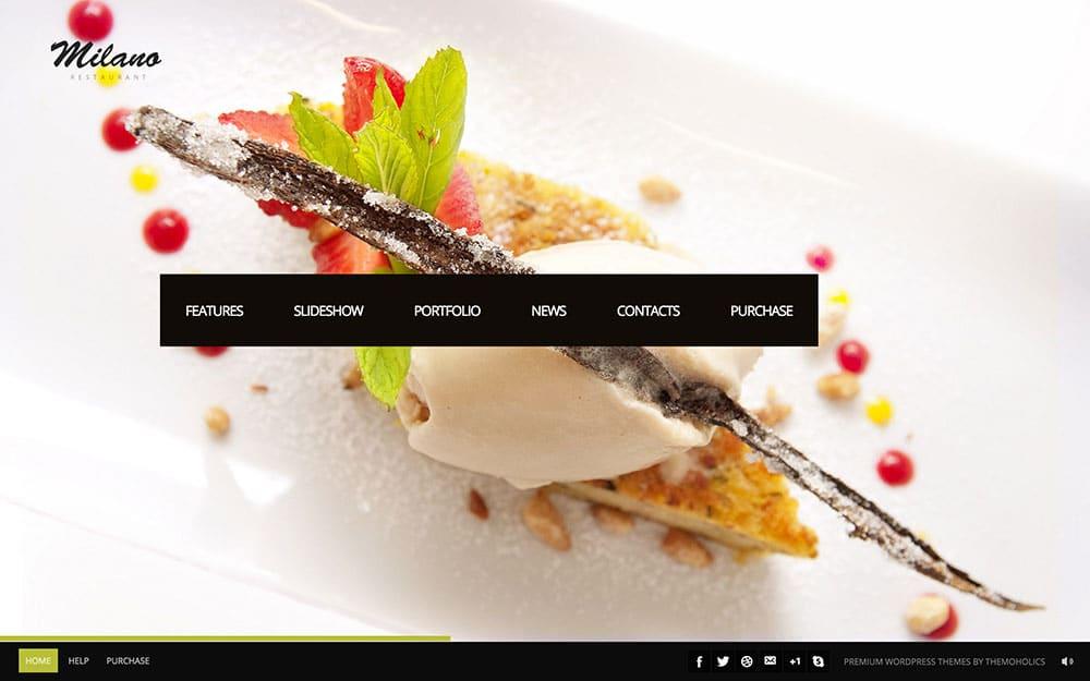 Milano - 50+ Nice WordPress Themes For Restaurant [year]
