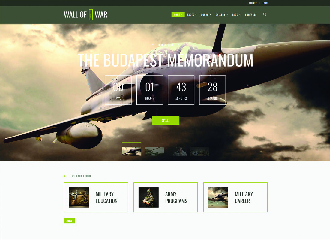 Military-Service-Veterans - 35+ Nice Hunting and Weapon For WordPress Themes [year]