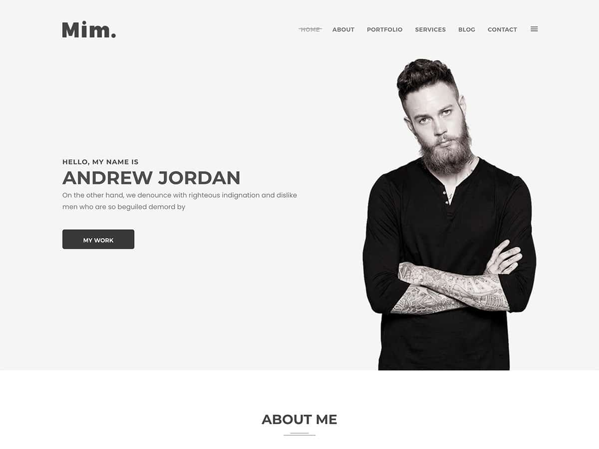 Mim - 31+ Nice WordPress Themes For Resume [year]