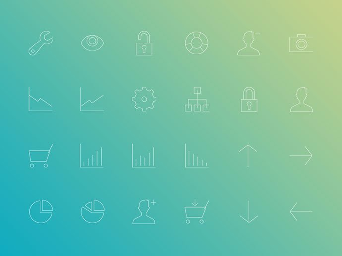 Minimal-Gradient-Outline-Administration-Icons-Pack - 35+ Awesome Free E-Commerce Icon Sets [year]