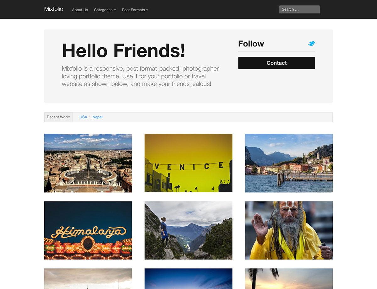 Mixfolio - 46+ Nice Free WordPress Portfolio Themes [year]