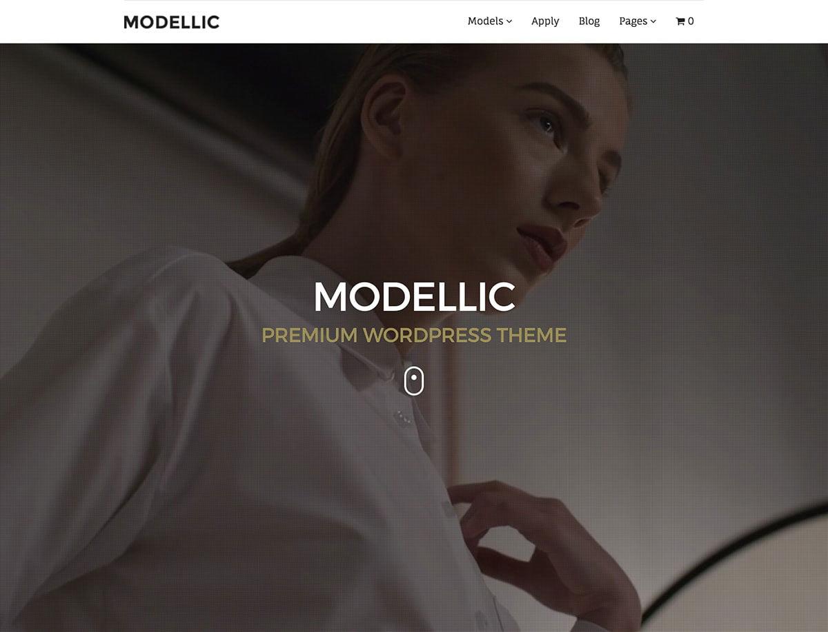 Modellic - 36+ Nice WordPress Model Agency Themes [year]