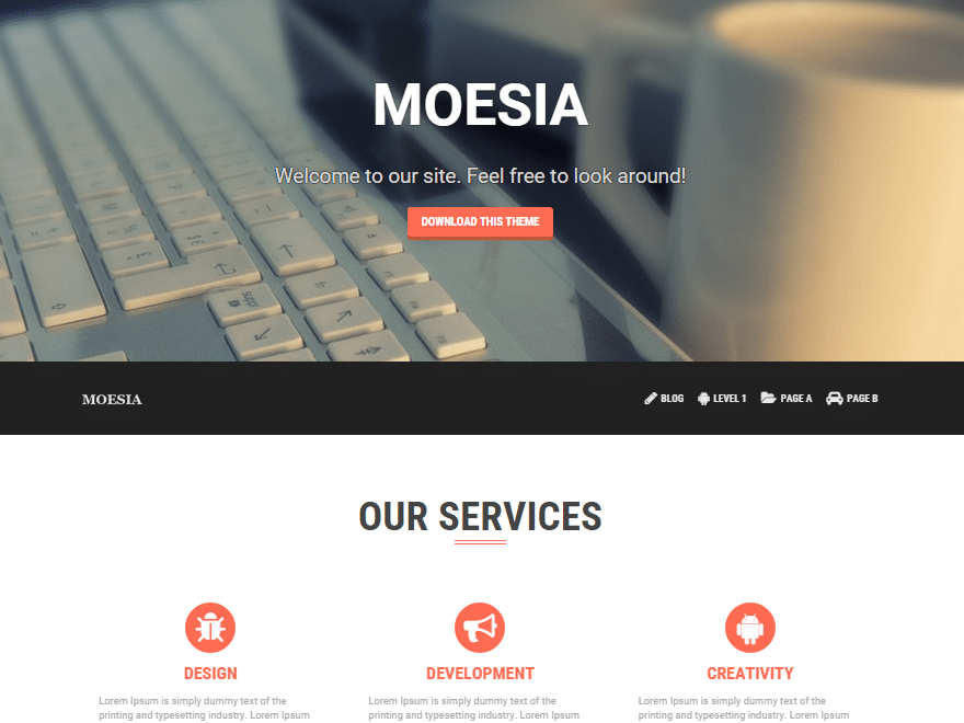 Moesia - 46+ Best Free WordPress One Page Themes [year]