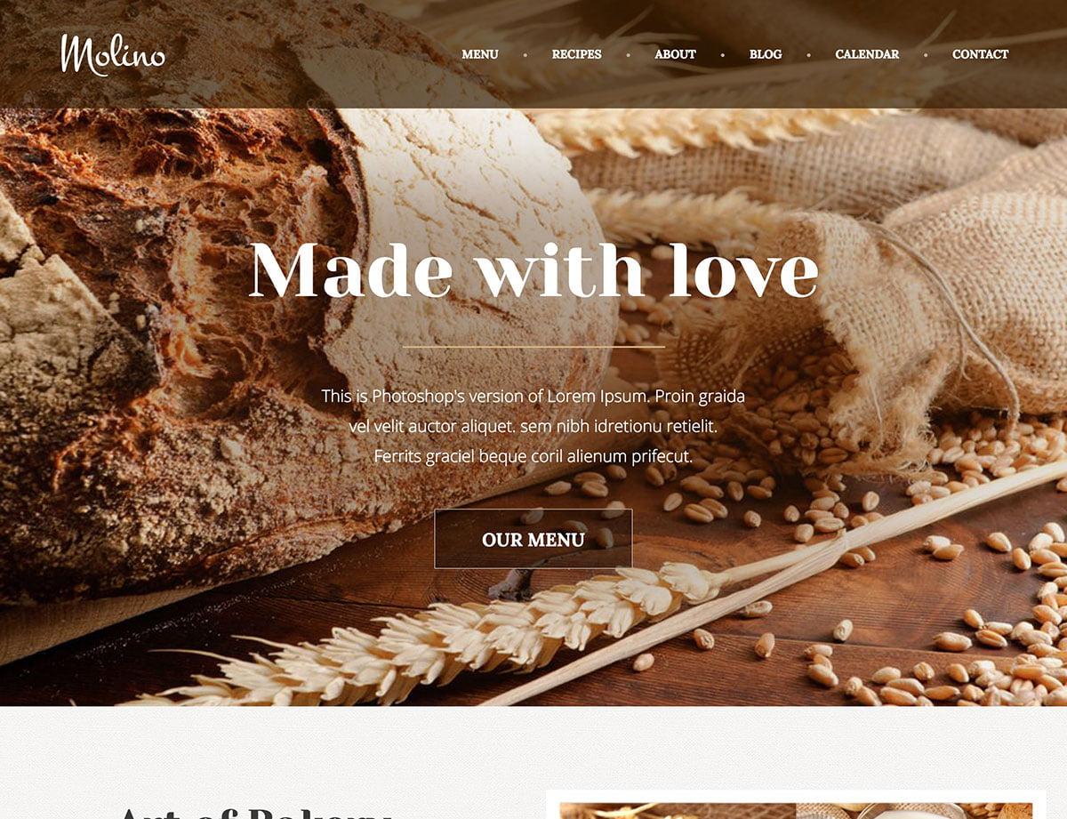 Molino-1 - 30+ Amazing Bakeries WordPress Themes [year]