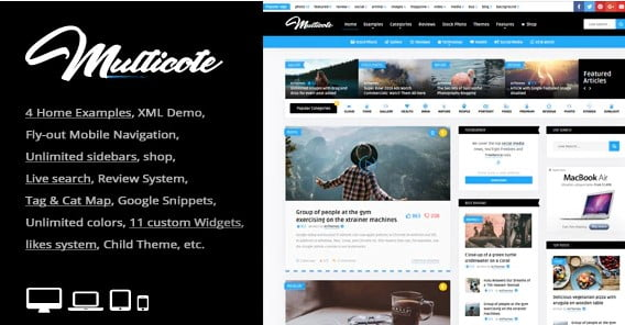 Multicote - 36+ Awesome WordPress Content Sharing Themes [year]
