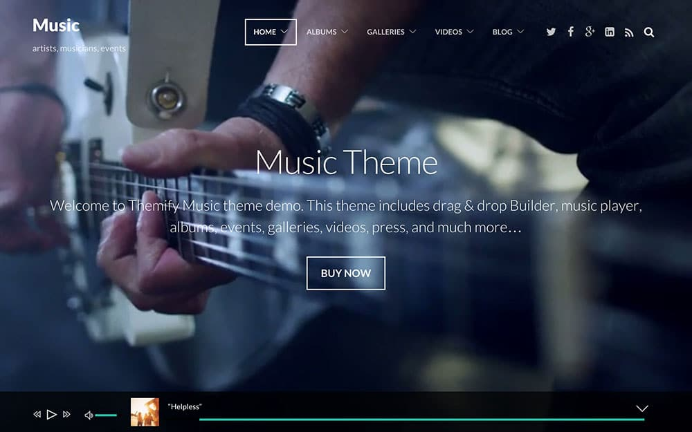 Music - 40+ Awesome WordPress Themes For Music [year]