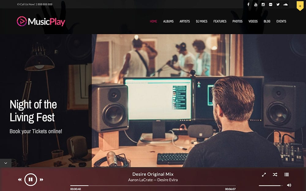 MusicPlay - 40+ Awesome WordPress Themes For Music [year]