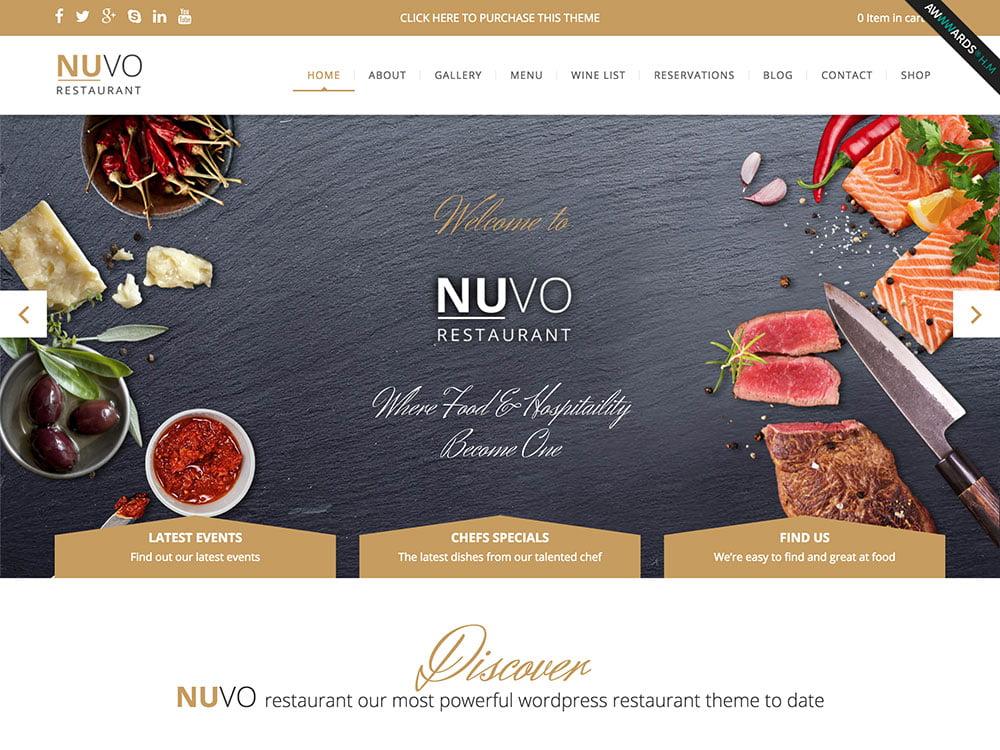 NUVO - 50+ Nice WordPress Themes For Restaurant [year]