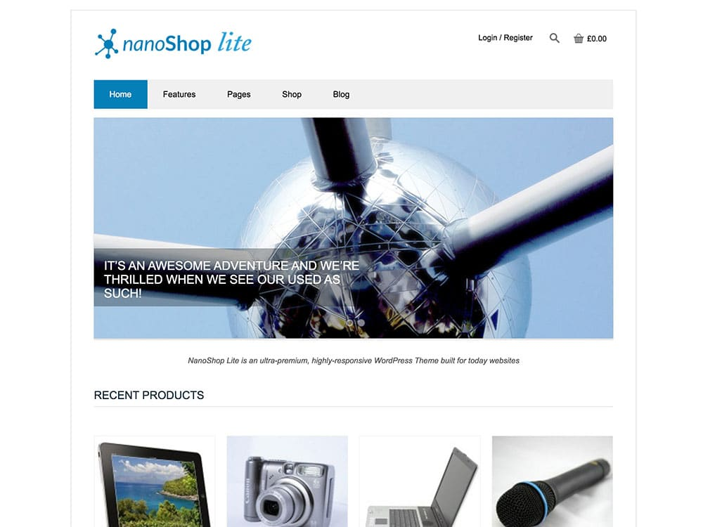 NanoShop - 51+ Awesome Free WordPress Themes For Ecommerce [year]