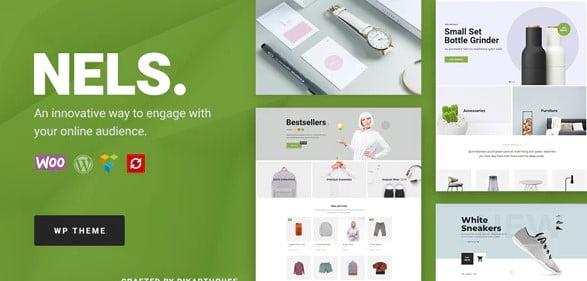 Nels - 36+ Nice Bookstore WordPress Themes [year]