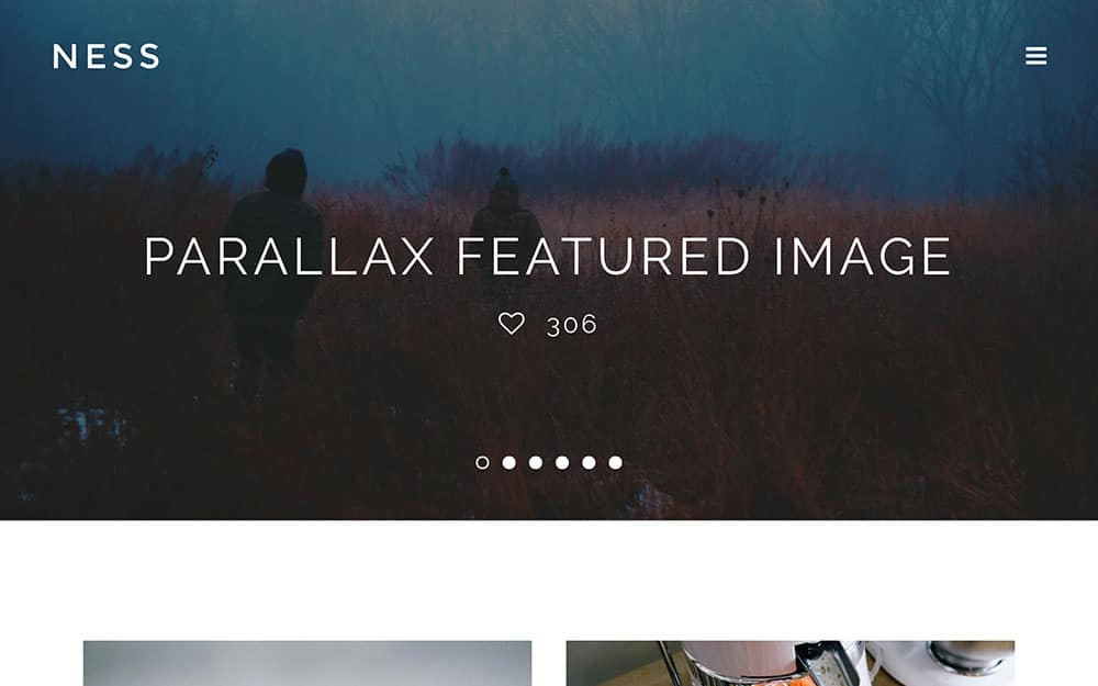 Ness - 41+ Amazing WordPress Parallax Themes For You [year]