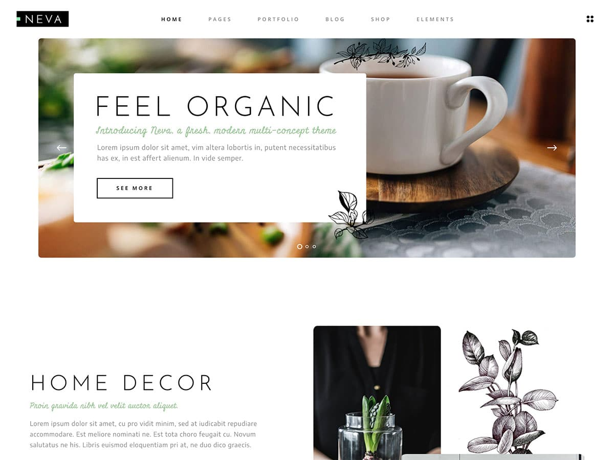 Neva - 31+ Amazing WordPress Themes For Creative [year]