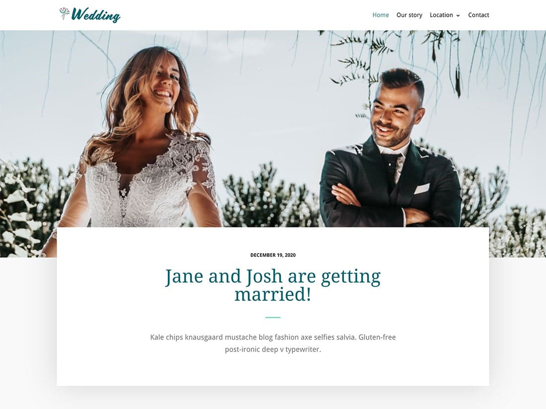 Neve-4 - 36+ Elegant Free WordPress Wedding Themes [year]